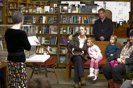 """Terry Golson reads from """"Tillie Lays an Egg"""" at The Concord Bookshop"""